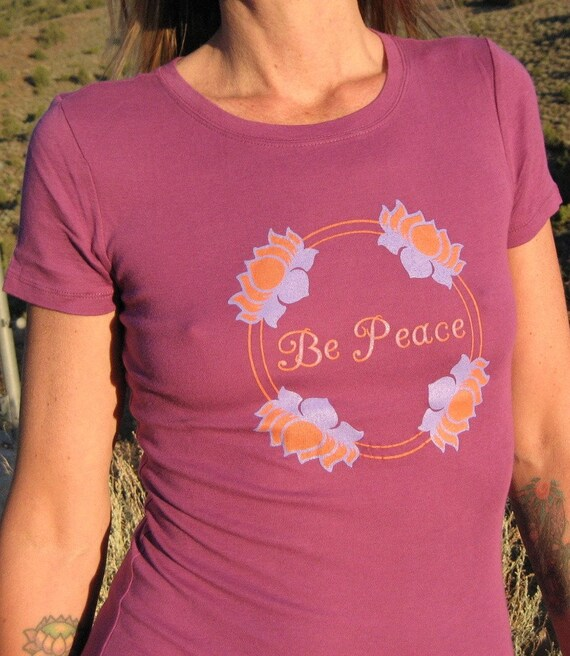 women 39 s be peace long waisted t shirt
