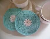 PDF Flower Dishcloth Crochet Pattern