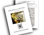 PDF Cross-Stitch Pattern for Blackwork Bird