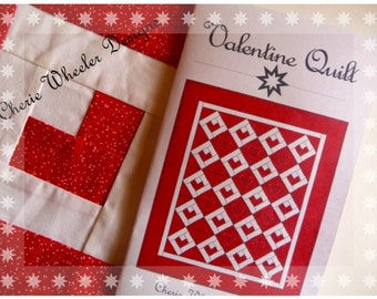 Valentine Quilt Paper Pieced PDF Quilt Pattern