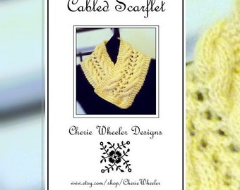 Cabled Scarflet Quick Knit PDF Pattern