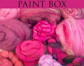 Artists' Paint Box FUSCHIA Ltd Edition  FREE US SHIPPING 5 oz. spinning fiber from Assorted Spindies Artists
