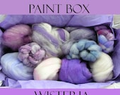 Artists' Paint Box WISTERIA Ltd Edition 5 oz of Fiber from Assorted Spindies Artists