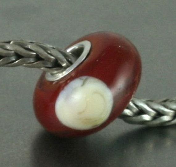 Ohio Buckeye Euro silver core bead
