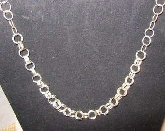 Silver Link Necklace,Silver Chainmaile Necklace
