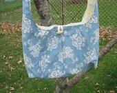 victorian blue slouch bag