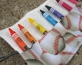 Play Ball purse pal mini crayon roll