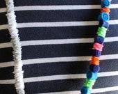 SALE-20% OFF-Striped Felt Necklace