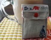 Circus Tea Bag/Sweetener cozy.
