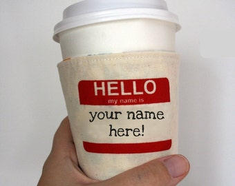 Personalized cup cozy