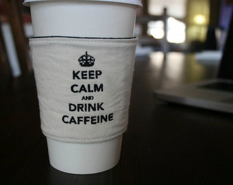 Keep calm cup cozy