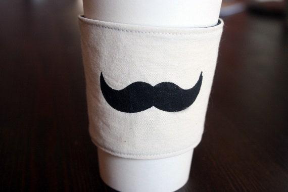 Moustache cup cozy