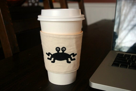 Flying Spaghetti Monster cup cozy
