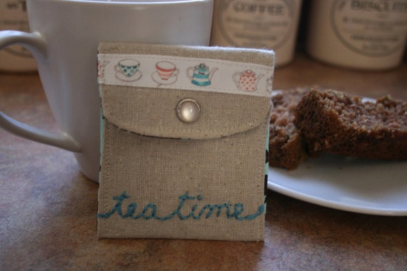 Tea Bag/Sweetener cozy.