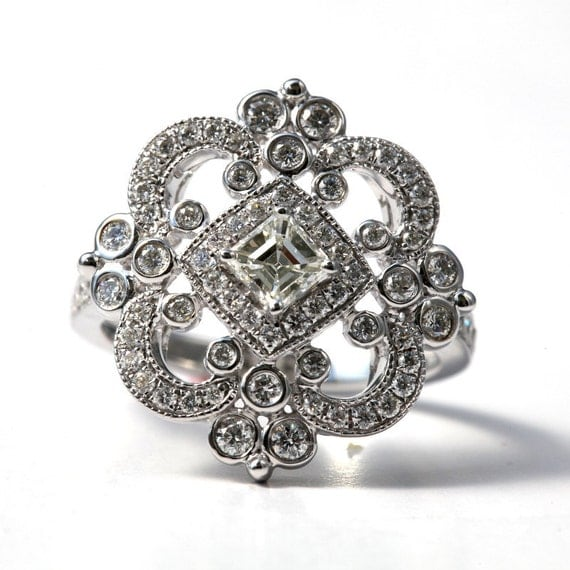 DUCHESS Diamond Engagement Or RIGHT Hand Ring By BeautifulPetra