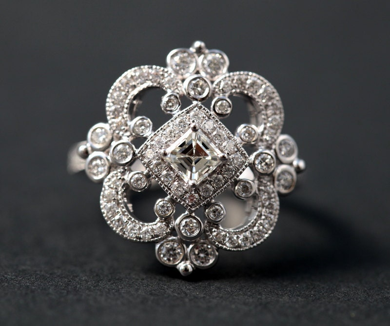 DUCHESS Diamond Engagement Ring Or Right Hand By