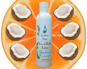 Lotion for Face and Body - 8 oz  Mandarin Coconut LIMITED EDITION - Free Shipping