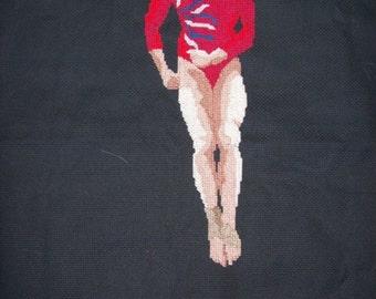 Gymnast Cross-Stitch Alicia Sacramone USA