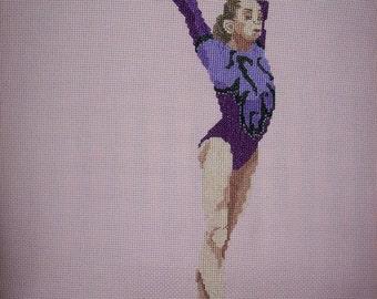 Gymnast Cross-Stitch Viktoria Komova Russia
