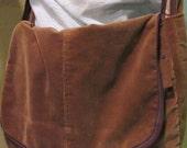 Recycled Corduroy Sports Coat Messenger Bag