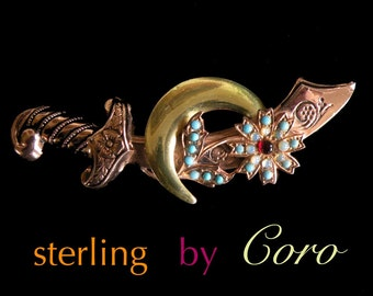 STERLING by CORO, gold plated beauty