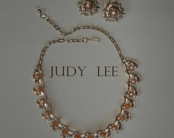JUDY LEE necklace and ear clips