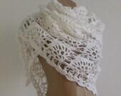 White Mohair Warm Shawl