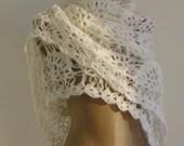CLEARANCE! White Shawl / White Crochet Shawl / White Wrap Shawl / White Knit Shawl / White Wedding Shawl