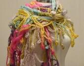 LAST ITEM! CLEARANCE! Rainbow Polestar Shawl / Pink Crochet Shawl / Yellow Wrap Shawl / Green Mohair Shawl / Blue Purple Shawl