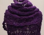 Purple Mohair Warm Shawl