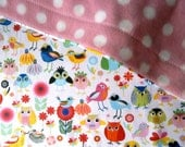 Kawaii Bird Blanket for Baby / Toddler for stroller, carseat, home