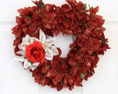 Stolen Heart Floral Valentine Wreath // Heart Wreath // Valentines Day Wreath