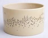 Handmade Cityscape Drawing Ceramic Plant Holder