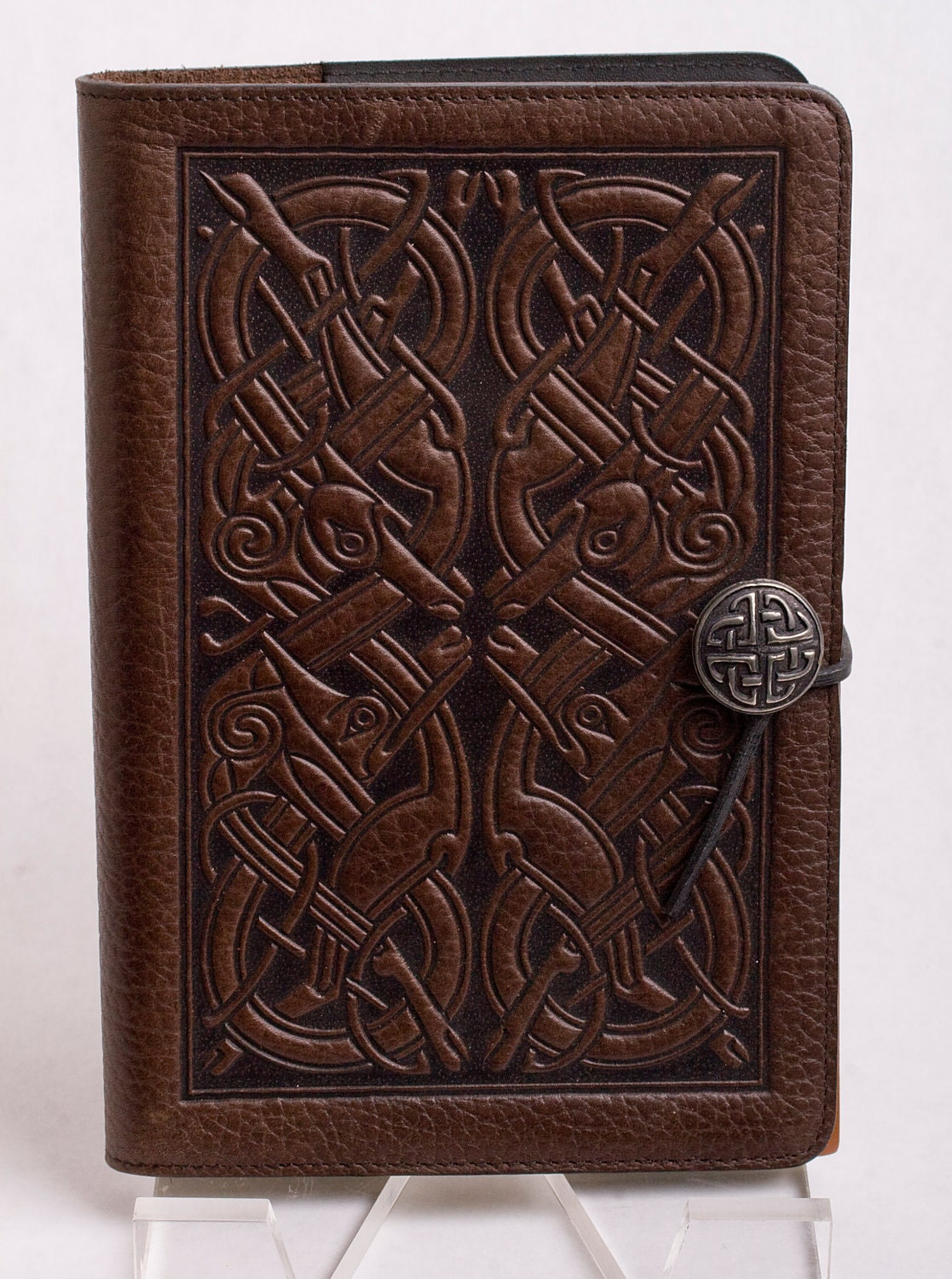 Leather Book Cover ~ Hand carved leather book cover by jpants sale on etsy