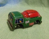 Japan Tin Cement Mixer Truck Circle Y Brand No Wheels Use for Crafting or Altered Art Project