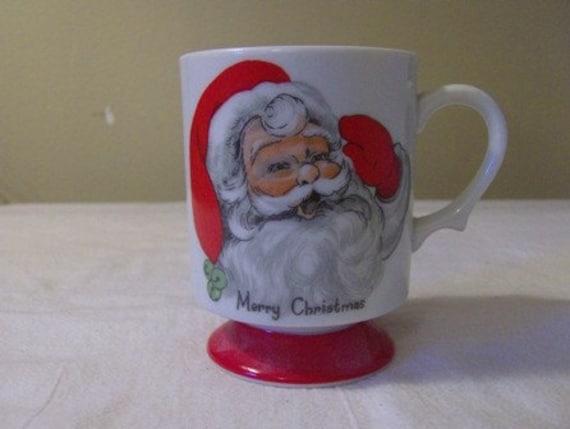Vintage Lefton Santa Face Coffee Mug