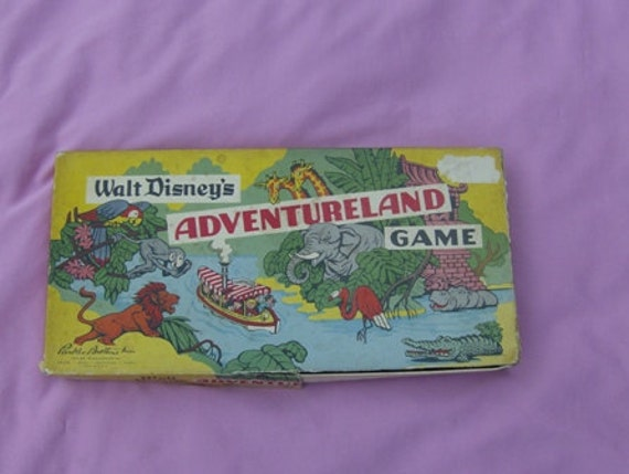 ON SALE Walt Disney's Adventureland Game 1960s Parker Brothers Crafter's Lot or Pieces