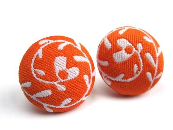 Summer Swirl Button Earrings