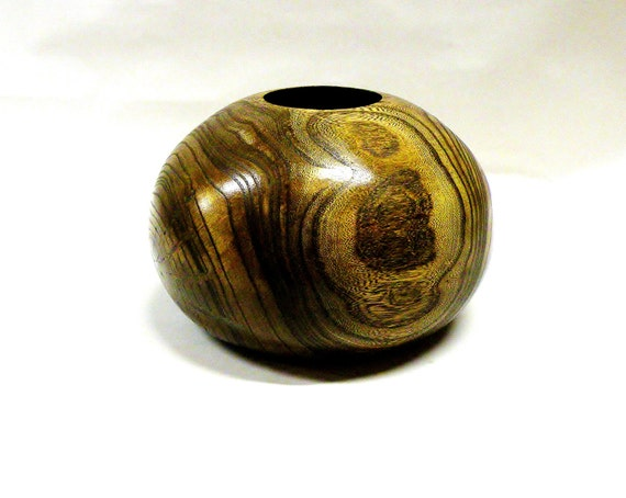 Wooden Bowl/Handturned Hollow Form/Chinese Elm Wood