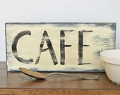 Cafe vintage-style wall sign