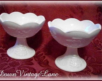 2 Milk Glass Candleholders for Your Wedding Table