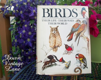 Vintage BIRDS Book, Their Life, Their Ways, Their World 1979