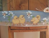 Country Painted Chicks Wall Hanging