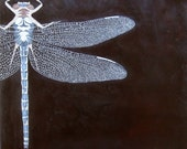 Dragonfly Painting Nature Art Encaustic Beeswax