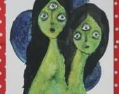 Alien Girls Print