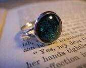 Blue and Green Nail Polish Ring
