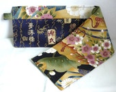 20 inch / 6 pockets Purse / Bag Organizer Insert - (small) oriental print fabric