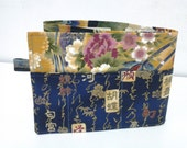 27 inch / 8 pockets Purse / Bag Organizer Insert - (Large) oriental print fabric