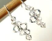 Crystal Earrings Bridal. Swarovski Crystal Bridal Earrings. Crystal Jewelry. Crystal Wedding Jewelry