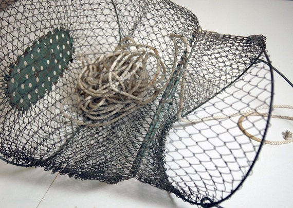 Green wire Fishing Basket-Made in France